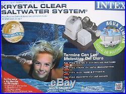 Intex Krystal Clear Saltwater System Above Ground Pool Chlorinator CS8110