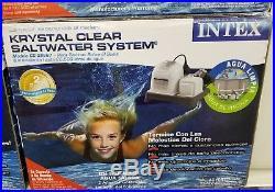 Intex Krystal Clear Saltwater System Chlorinator withGFCI Model 28667EG