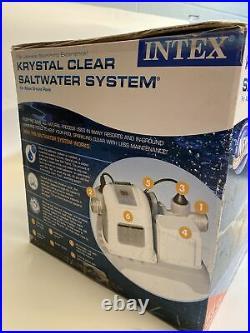 Intex Krystal Clear Saltwater System Filter for 15,000 gal Pools Model 54601EG