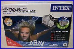 Intex Krystal Clear Saltwater System Model CG-28669 Above Ground Pools NIB
