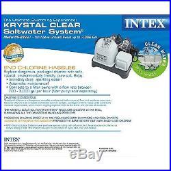 Intex Krystal Clear Saltwater System Swimming Pool Chlorinator withGFCI 28667EG