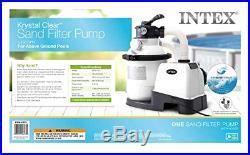 Intex Krystal Clear Sand Filter Pump, Above Ground Pools 10-inch, 110-120V GFCI