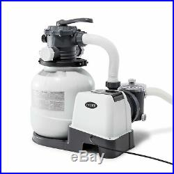 Intex Krystal Clear Sand Filter Pump for Above Ground Pools, 12-inch, 110-120
