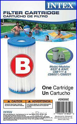 Intex Swimming Pool Type B Filter Cartridge 29005E Case of 12 Filters