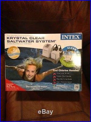 Intex The Ultimate Swimming Experience Krystal Clear Saltwater Pool System NIB