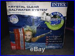 Intex krystal clear salt water system for above ground pool