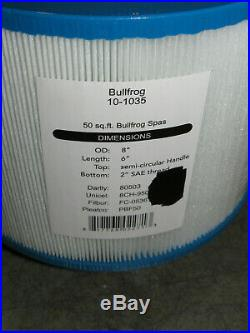Lot of 4 Bullfrog 10-1035 Spa Filter Cartridge Replaces 8CH-950 80803 FC-0536