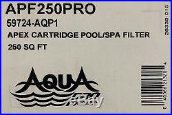 NEW! Aqua Pro Systems APF250PRO Swimming Pool/Spa Cartridge Filter 250sqft