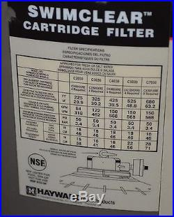 NEW Hayward 425 Sq Ft Swim Clear Swimming Pool Swimclear Cartridge Filter C4030