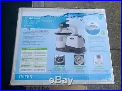 NEW INTEX 26643EG 1200 GPH 10 ABOVE GROUND POOL SAND FILTER PUMP with AUTO TIMER