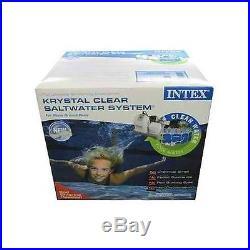NEW Intex Krystal Clear Saltwater System Swimming Pool Filter Chlorinator