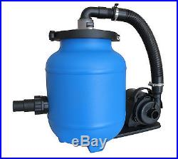 Nevis Filteranlage 4m³/h mit Filtermaterial Aqualoon Sandfilteranlage Poolfilter