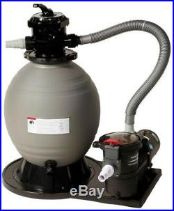 New 18 in. Sand Filter System with 3600 GPH 1 HP Pump for Above Ground Pools