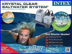 New Intex Krystal Clear Saltwater System Chlorinator Swimming Filter Pool Pump