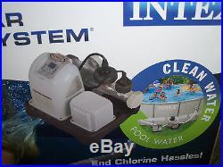 New Intex Krystal Clear Saltwater System Swimming Pool Chlorinator 28663EG