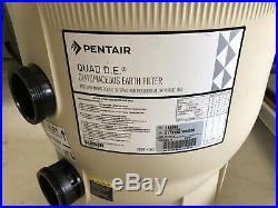 Pentair Quad DE D. E. 80 Sq Ft 4 Cartridge Style Swimming Pool Filter 188593