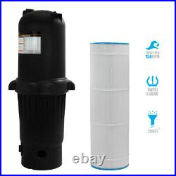 Pool Cartridge Filter In-Ground Easy Clean with Tank Pool Filter 200sq. Ft