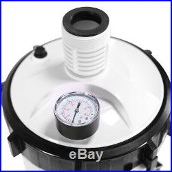 Pool Filter Water System Built-in Pump & Gauge for Above Ground Swimming Pool