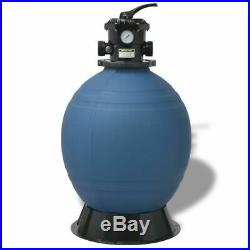 Pool Sand Filter 22 inch Round Blue