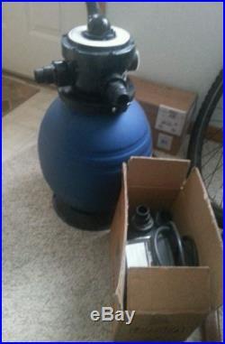 Pool sand filter 3/4 motor