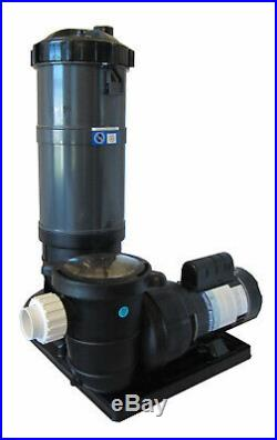 Pooline Pro Above Ground Pool 90sf Cartridge Filter System with 1 HP Pump