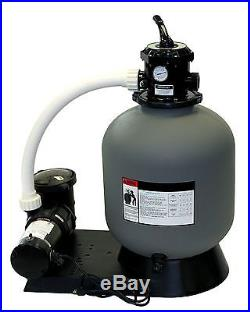 Radiant 16 Inch Above Ground Swimming Pool Sand Filter System with. 75 HP Pump