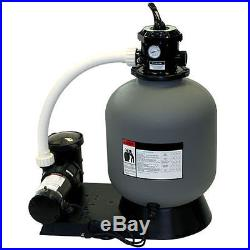 Radiant 22 Inch Above Ground Swimming Pool Sand Filter System with1.5 HP Pump
