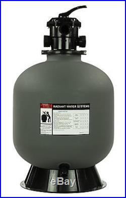 Rx Clear Radiant 24 Inch In-Ground Swimming Pool Sand Filter with6-Way Valve