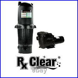 Rx Clear Radiant PRC150 In-Ground Cartridge Swimming Pool Filter with 1 HP Pump