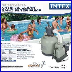 Sand Filter Pump 3000GPH Above Ground Pool 110-120V Motor Tank Strainer Basket