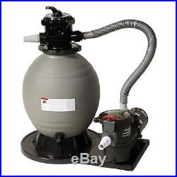 Sand Filter System Pool Clean Water Filter 22 1.5 HP Pump for Above Ground Pool