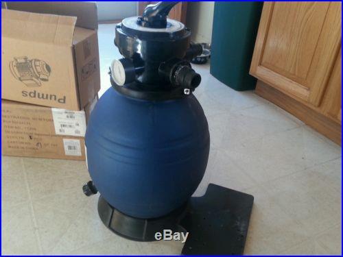 Sand filter and 2 pool pump motors