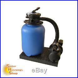 Sandfilteranlage ECO mit SPS 100-1 Pumpe 8m³/h bis 48m³ -Sandfilter Filteranlage