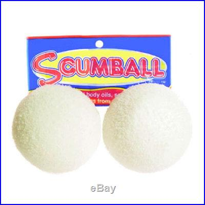 Scumball Surface Oil Absorber Removes Scum Oils from Pool Spa 2 pk Floating Ball