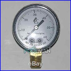 Side Mount 60LB Filter Pressure Gauge 1/4 Pipe Threads