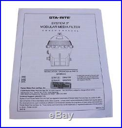 Sta-Rite 25021-0200S & 25022-0201S System 3 S7M120 Swimming Pool Filter Set