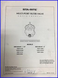 Sta-Rite 2 Sand / DE Pool Filter Valve 18201-0200