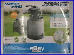 Summer Waves Naturally Pure Sand Filter Pump, above ground pools up to 18' x 52