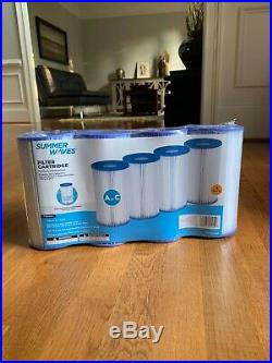 Summer Waves Pool Filter Cartridge A or C Type (1 Pack of 4 Filters)