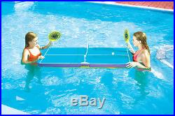 Swimline 9164 Swimming Pool Floating Ping Pong Table Tennis Game For Kids