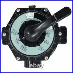 Swimming Pool Multiport Valve for Sand Filter ABS 1.5 6-way Top Mount 6 Valve