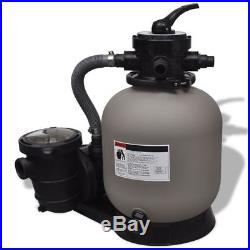 Swimming Pool SPA Sand Filter with Pool Pump Filters Durable 1' 2'' 4500GPH