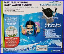 Swimming Pool Salt Water System for Above Ground Pools upto 7000 gal No Chlorine