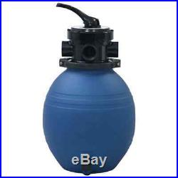 VidaXL Pool Sand Filter with 4 Position Valve Blue 11.8 Water Clean Equipment