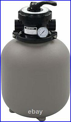 VidaXL Pool Sand Filter with 4 Position Valve Gray 1.4 Pool Filter Spa Filter