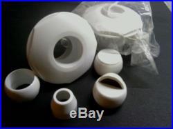 Wholesale lot of 100 RETURN JET SELF ALIGNING 1.5 knock-in fittings white
