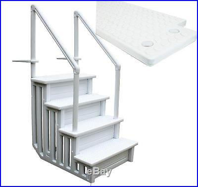 XL Step 32 Drop In Step Safety Step Swimming Pool Ladder W/ Handle Slip Prevent